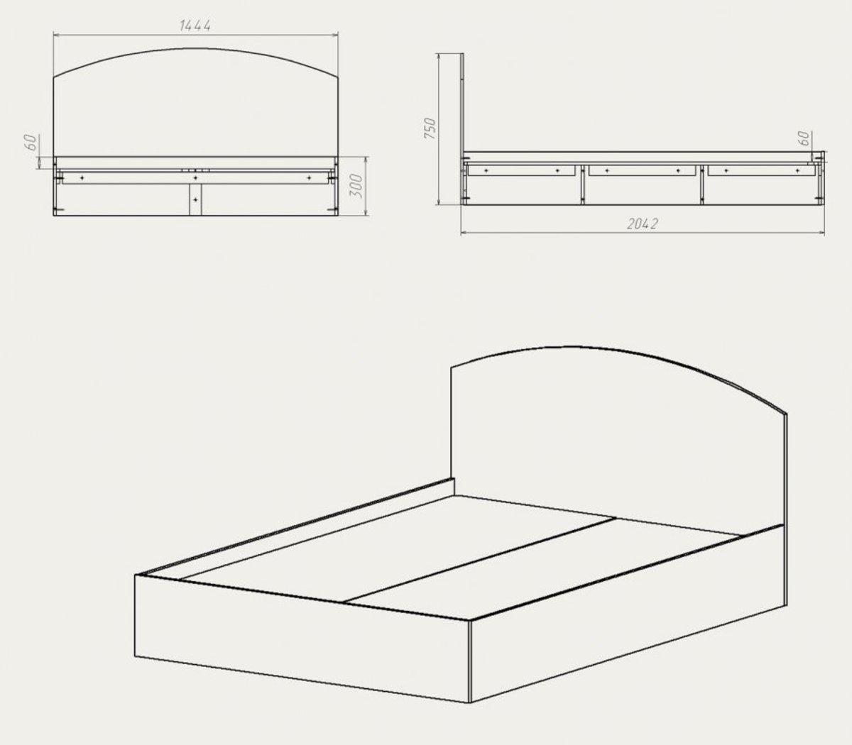 Как собрать кровать из дсп своими руками 4